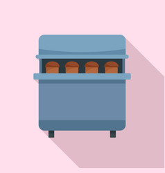 Bakery factory icon flat style vector