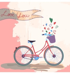 Bicycle loves you vector