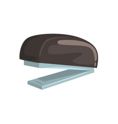 black office stapler office tool cartoon vector image