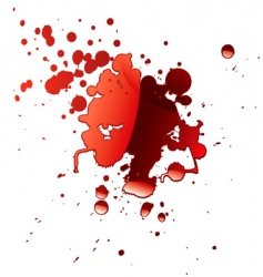 blood reflection vector image