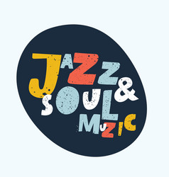 blues and jazz music vector image