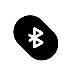 bluetooth sign icon flat design black color sign vector image