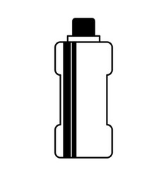 bottle water gym isolated icon vector image