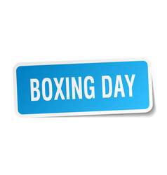 Boxing day square sticker on white vector