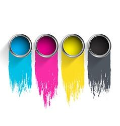 Bucket of paint CMYK vector