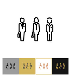 businessman signs icon or business persons vector image