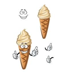 Cartoon caramel ice cream dessert vector image