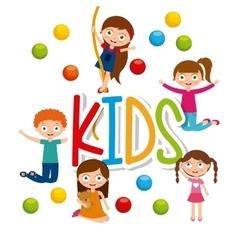 Cartoon kids design vector