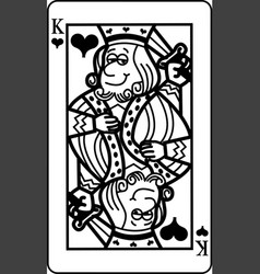 cartoon king of hearts playing card vector image
