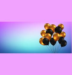 celebration festival blue background with helium vector image