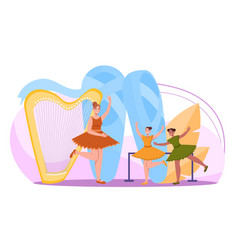Classic dance or choreography school promotion vector