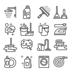 cleaning service icon set services for cleaning vector image