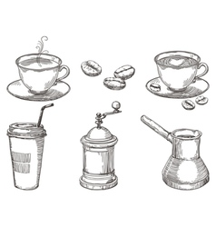 Coffee things vector
