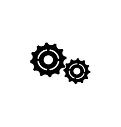 cog settings icon symbol black on white vector image