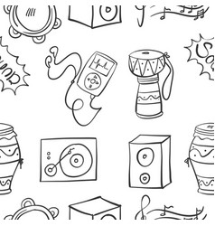 collection stock of music doodles vector image