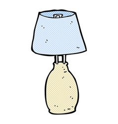 comic cartoon lamp vector image