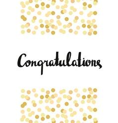 Congratulations Calligraphy Congratulations vector