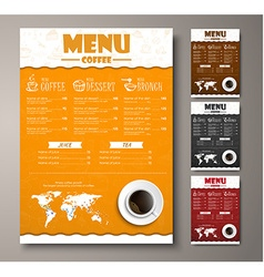 Design a menu for the cafe shops or coffee shops vector
