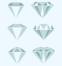 different diamond vector image