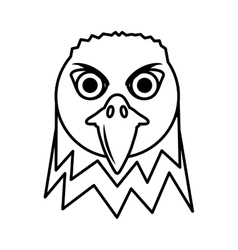 Eagle head face icon vector