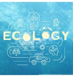 Ecology template banner vector image