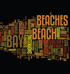 Eleuthera s best beaches text background word vector