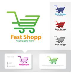 fast shop logo vector image