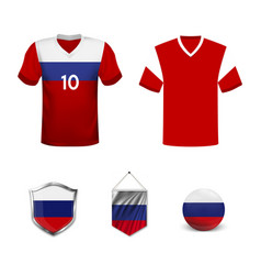 Football championship banner flag russia vector