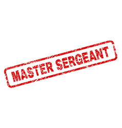 Grunge master sergeant rounded rectangle stamp vector