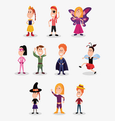 Halloween people customes vector