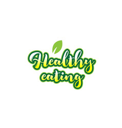 Healthy eating word font text typographic logo vector