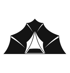 Hiking and camping tent icon simple style vector