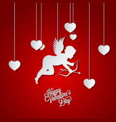 Holiday frame happy valentines day vector