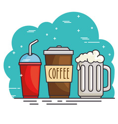 Hot and cold drink design vector