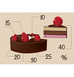 in the form of a diagram of the cake vector image