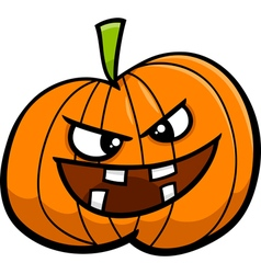 jack o lantern cartoon vector image