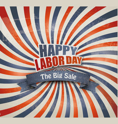 Labor day sale background vector