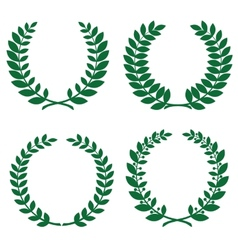 Laurel wreathes vector