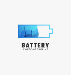 logo battery gradient colorful style vector image