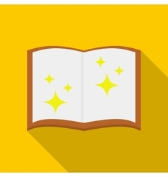 Magic book icon flat style vector