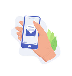mail app concept vector image