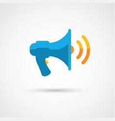 modern flat megaphone icon vector image