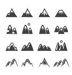 Mountain icon vector