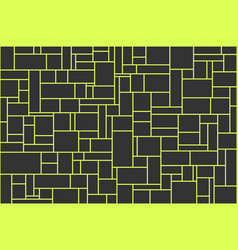 new creative abstract black and yellow background vector image