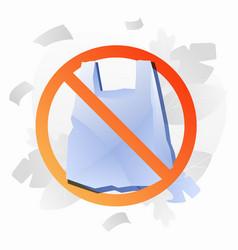 No plastic bag sign vector