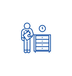 office archive archiver line icon concept office vector image