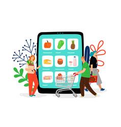Online grocery store vector