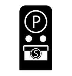 Parking meter icon simple style vector