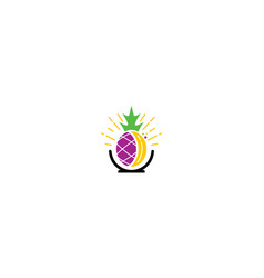 pineapple banana logo icon vector image