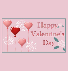 Pink template for valentines day vector